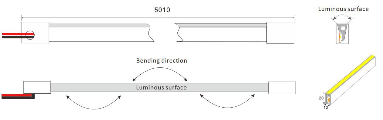 DeRun first-rate neon strip light supply for restaurant-11