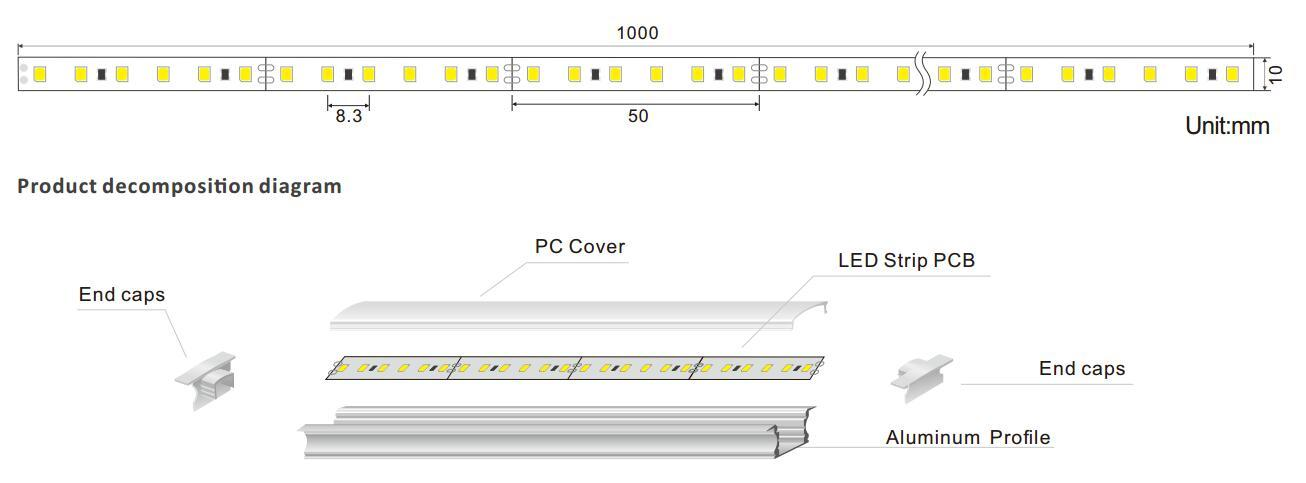 DeRun elegance linear led lighting for foyer