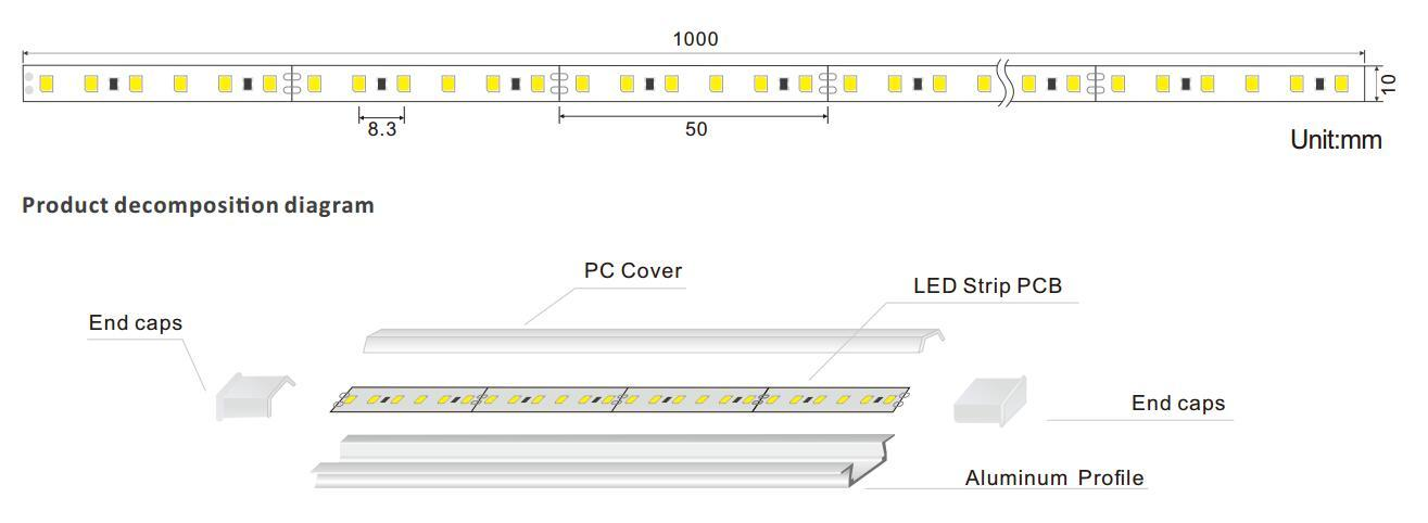 safety led linear light for entry