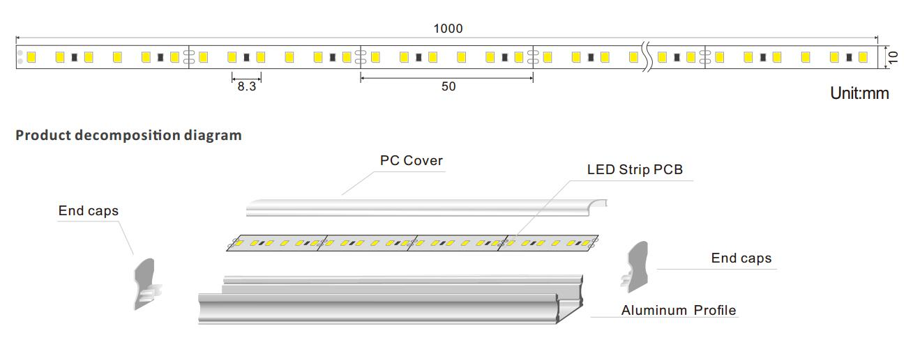 DeRun linear led linear at discount for foyer-1