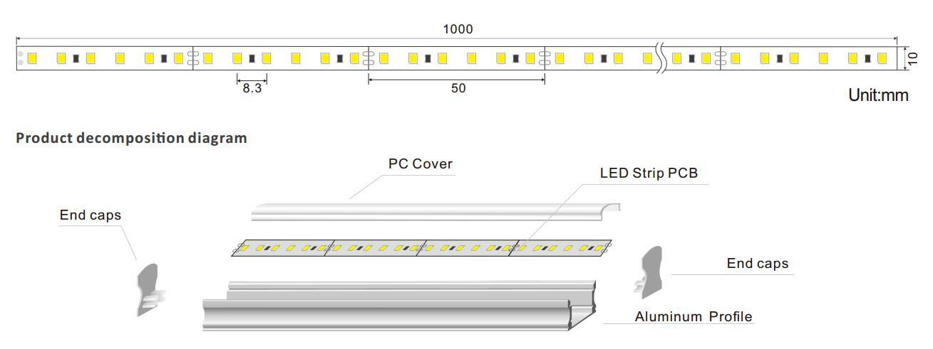 scientific linear light fixture light for wedding