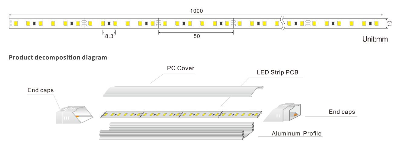 DeRun new-arrival led linear light check now for hallway-1