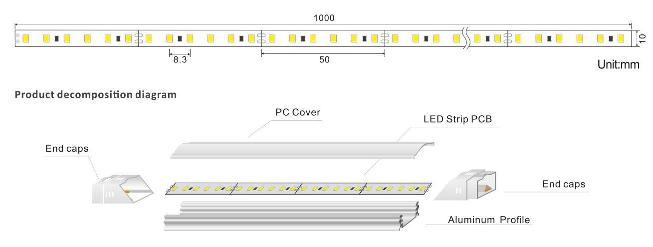 DeRun temperature led linear light from manufacturer for office