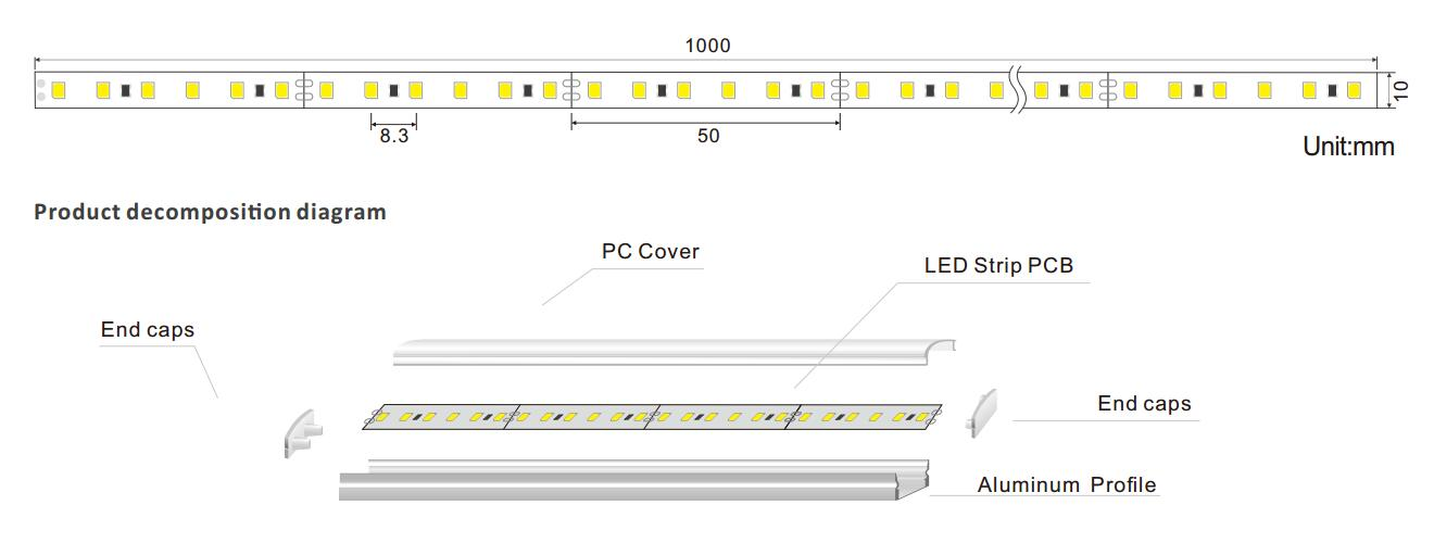 DeRun high-quality led linear bulk production for foyer-1