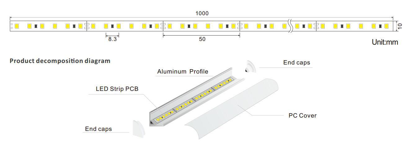 DeRun fine- quality linear led lighting bulk production for wedding