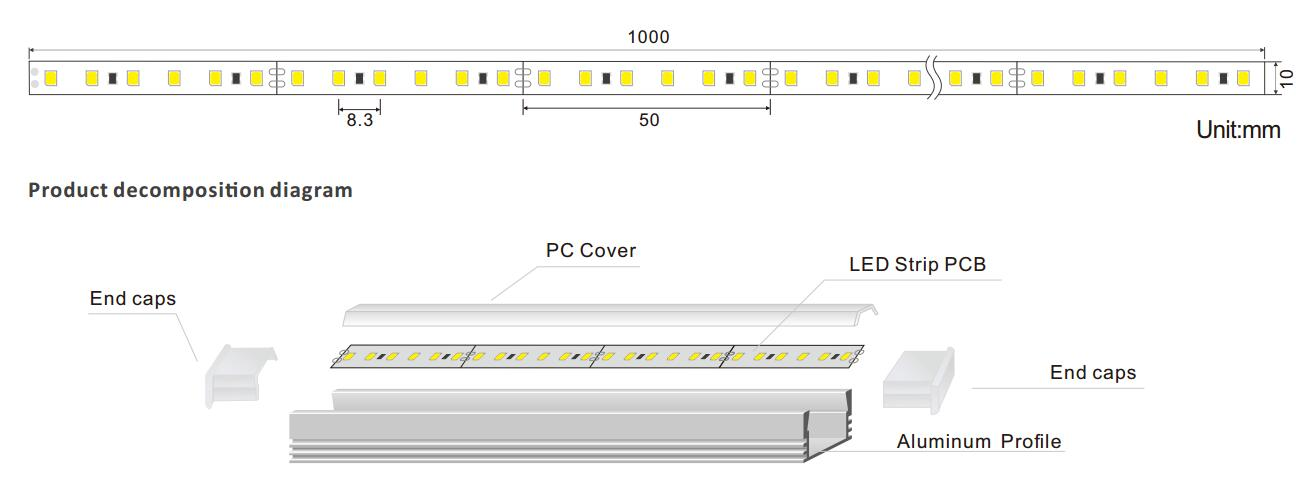 DeRun safety led linear at discount for entry-1