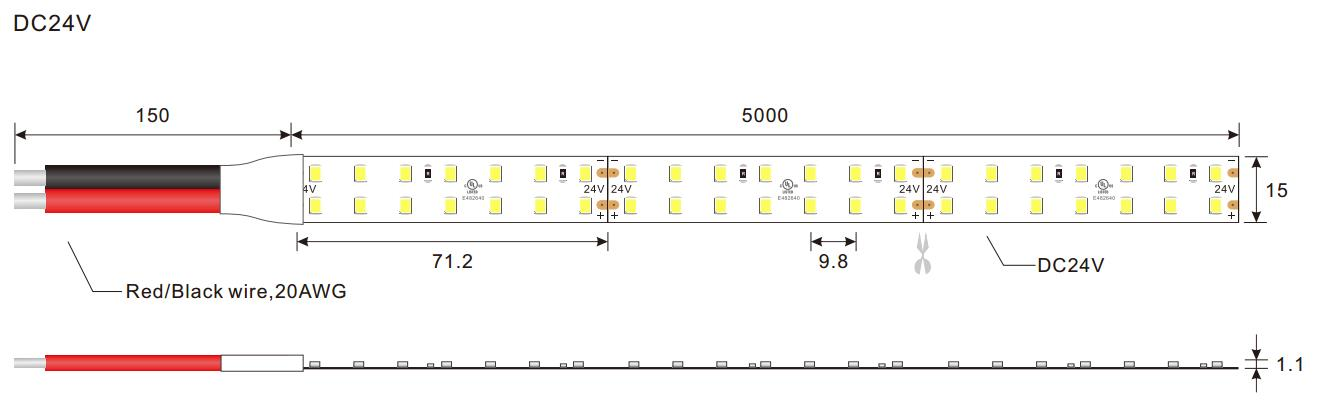 DeRun rows dimmable led strip lights supplier for bar-1