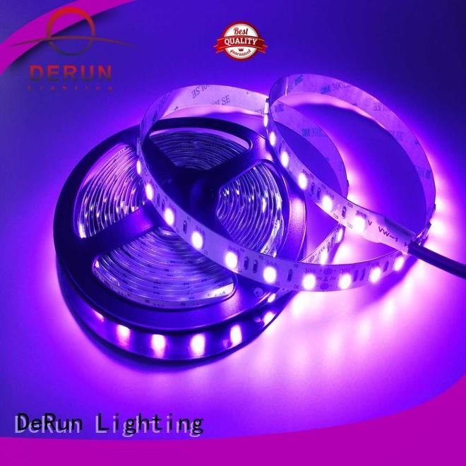 installations ultraviolet led rope light flexible for room DeRun
