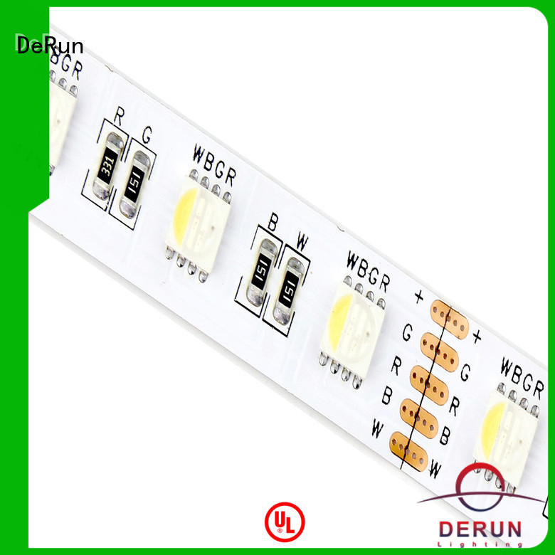 DeRun safety rgbw led strip light factory for building