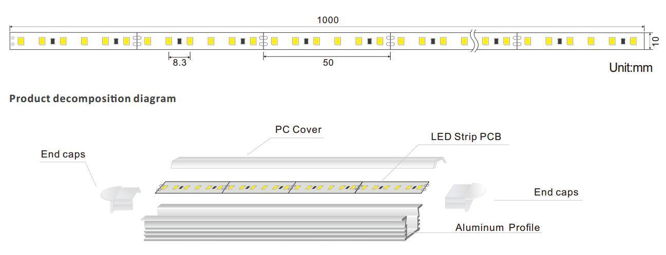 DeRun vivid linear led lighting bulk production for dining room-1