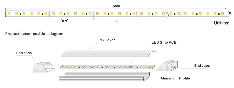 DeRun elegance linear led lighting from manufacturer for bar-1