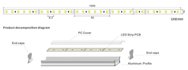scientific led linear light led free design for kitchen island-1