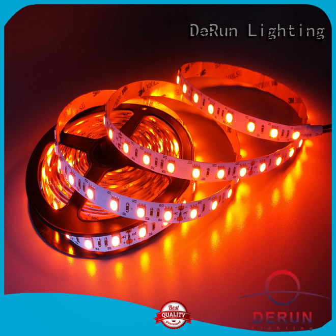 DeRun low cost amber led strip widely-use for decoration