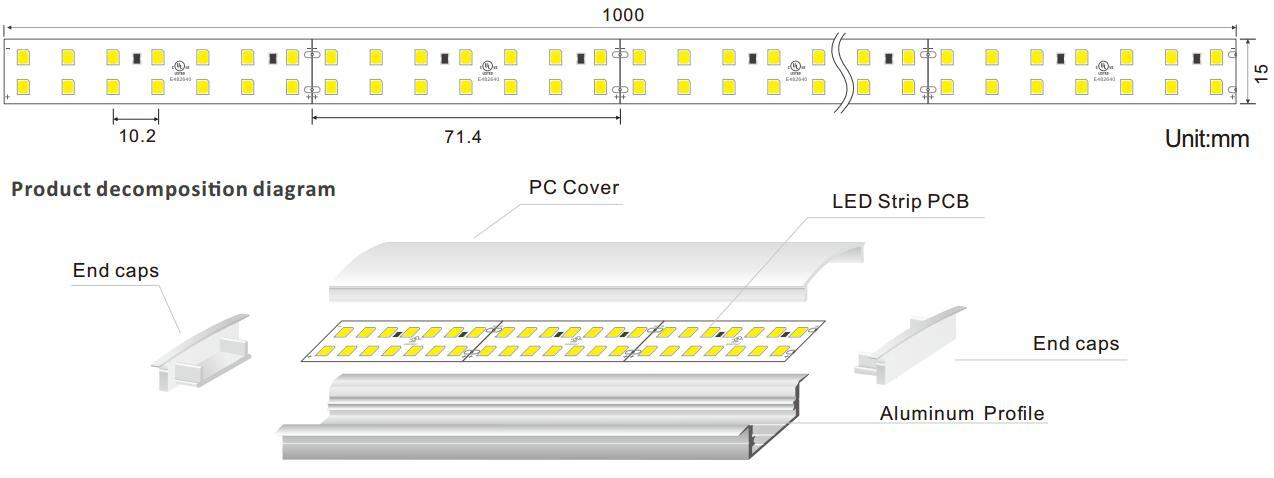 DeRun light linear light fixture free design for entry-1