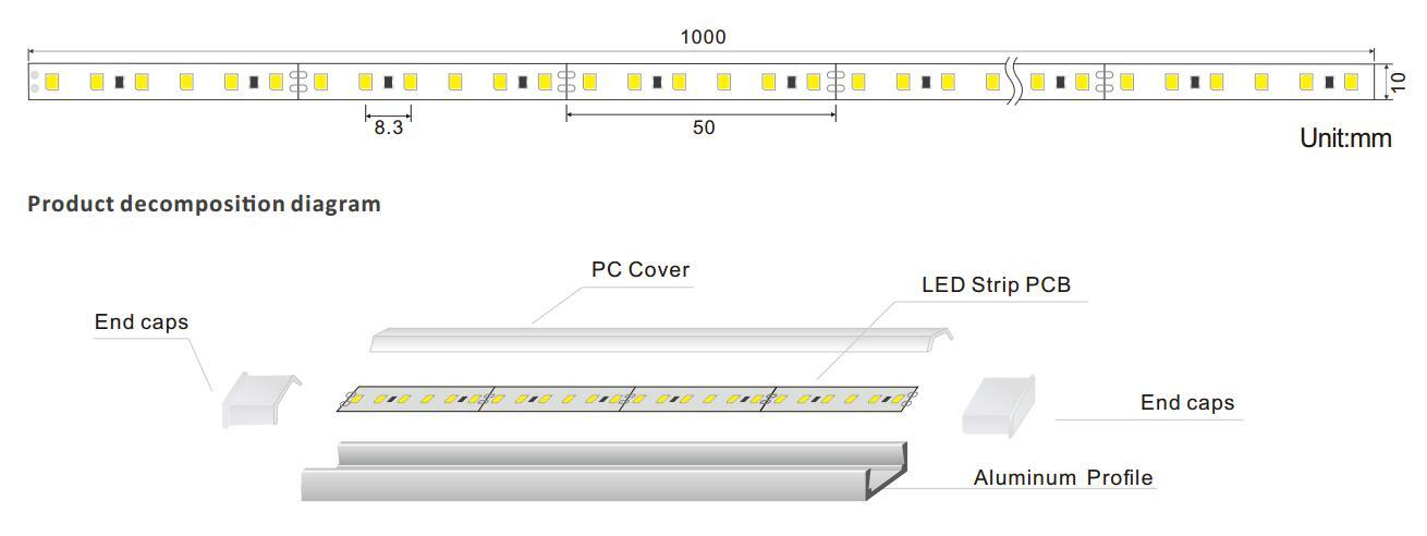 fine- quality linear led lighting vivid at discount for dining room-1