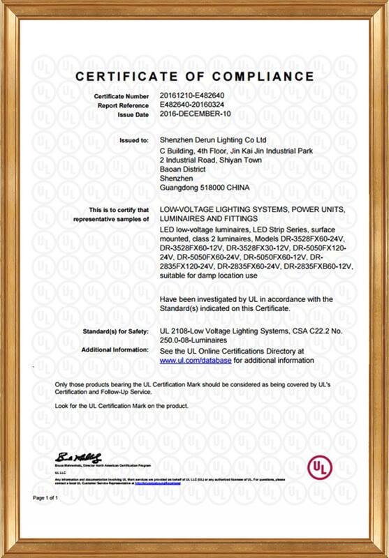 UL certificate - E482640-20160324 -CertificateofCompliance