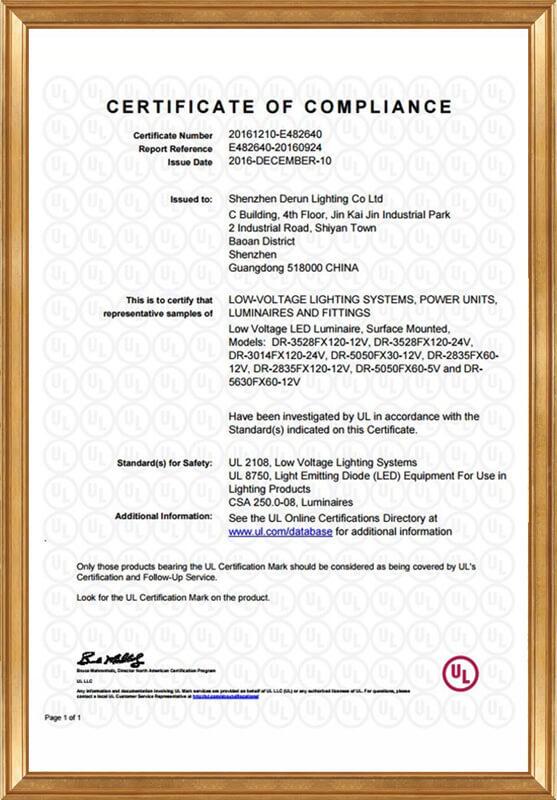 UL certificate - E482640-20160924 -CertificateofCompliance
