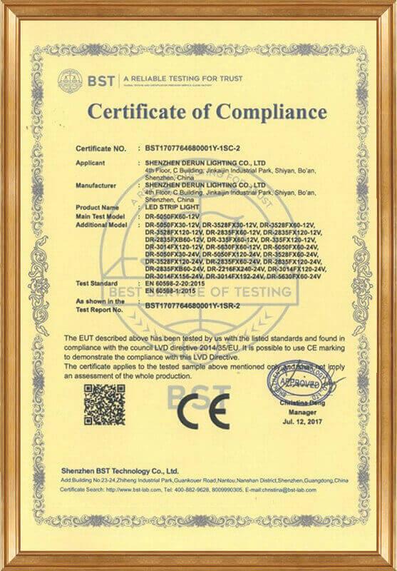 Derun 76468 (CE-LVD certificate)