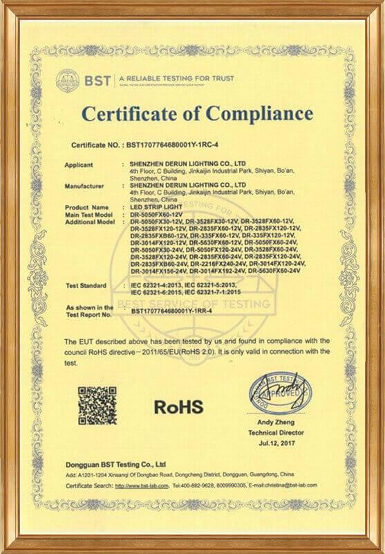 Derun 76468 (ROHS certificate)
