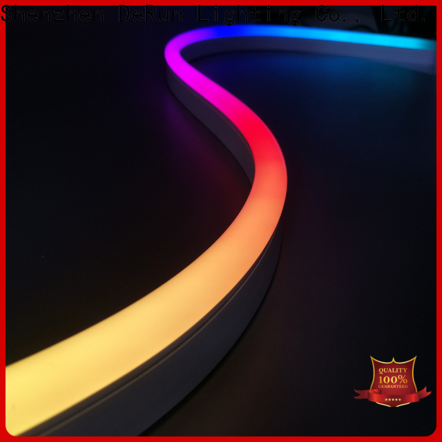 DeRun co-extrusion led neon flex certifications for dining room