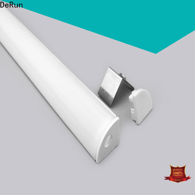 DeRun lightweight led aluminum channel free design for kitchen island