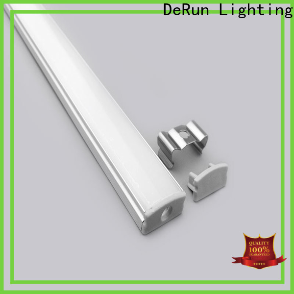 DeRun crucial led aluminum profile free design for kitchen island