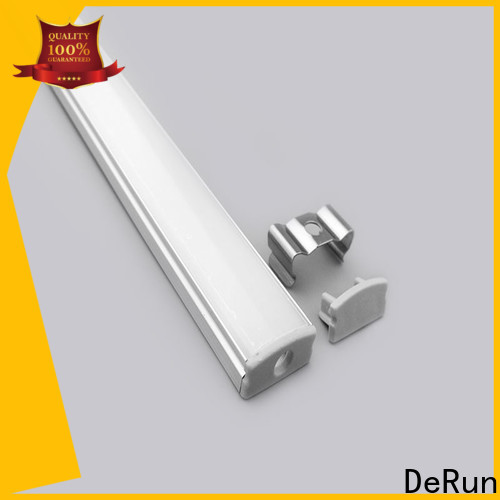 DeRun crucial led aluminum profile from manufacturer for cabinet